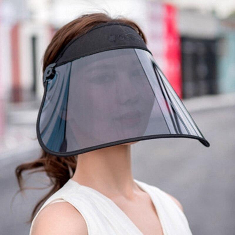 UV Visor Summer Women Hat Cover Sun Empty Top Sun Hat Wide Sunscreen Cap Foldable Beach Travel Hats Female Caps