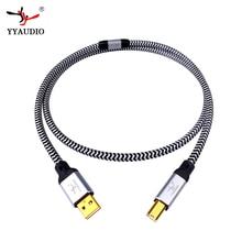 Yyaudio Hi End Occ Verzilverd Usb Audio Kabel Data Usb kabel Dac Usb Hifi Kabel A B Usb Kabel