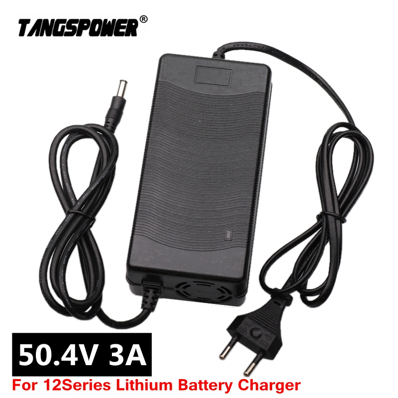 50 4V 3A Lithium Battery electric bike Charger For 12S 44 4V Li-ion battery pack e-bike Charger high quality Plug EU US UK AU