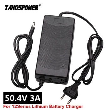 50.4V 3A Lithium Battery electric bike Charger For 12S 44.4V Li-ion battery pack e-bike Charger high quality Plug EU/US/UK/AU 14 4v 18v battery charger for bosch 1 6a lithium battery adapter dual usb charger uk eu us plug power tool replacement us plug