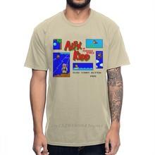 T-shirt rétro en coton naturel avec personnages de dessins animés, t-shirt avec image d'alex Kidd dans Miracle World Game Pixel 8 Bit