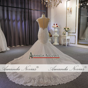 Image 5 - New model special lace full beading wedding dress mermaid wedding gown real work