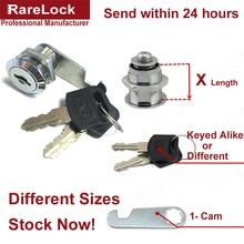 Rarelock Cabinet Cam Lock Different Sizes for Home Drawer Mailbox Storage Tool Box 2 Keys DIY Furniture Hardware MMS340 aa