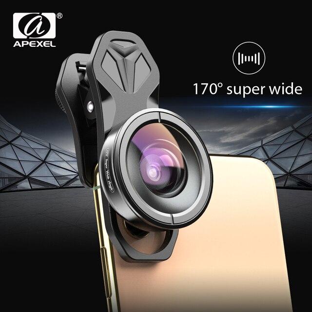 Apexel 光電話レンズ hd 170 度超広角レンズカメラ光学レンズ iphonex xs 最大 xiaomi すべてスマートフォン