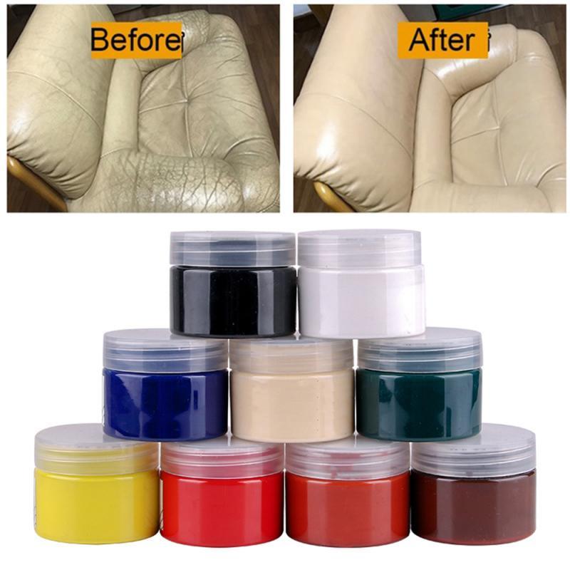 Leather Repair Cream Universal Leather Vinyl Repair Car Seat Sofa Coats Scratch Cracks Car Repair Tool Cleaner TSLM1
