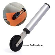 FOSHIO Vinyl Wrapping Tool Soft Sponge /Rubber Roller Squeegee Door Gap Uneven Surface Carbon Fiber Film Install Car Accessories