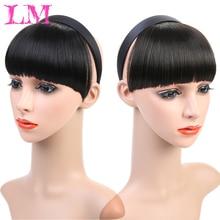LiangMo, 7 цветов, заколка для волос, челка, шиньон, синтетическая имитация челок, шиньон для наращивания волос, имитация челок, заколка для челки