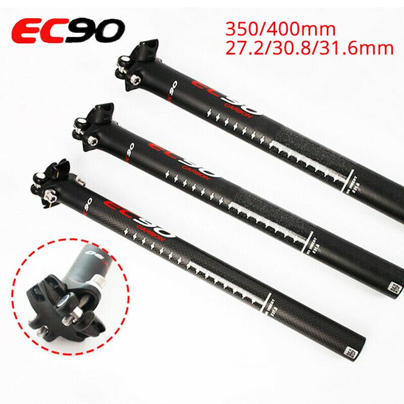 Details about  /EC90 MTB Bicycle Seatpost 27.2//30.8//31.6*350//400mm T800 Carbon Fiber Seatpost US