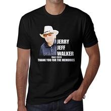 Rip Je-rry Jeff. Walker em 78 outlaw country singer-songwriter fan match camiseta roupas de algodão