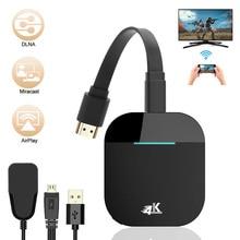 WiFi ekran Dongle 4K kablosuz HDMI ekran adaptörü 5G WiFi kablosuz ekran alıcısı için TV projektör monitör HDMI cihazlar