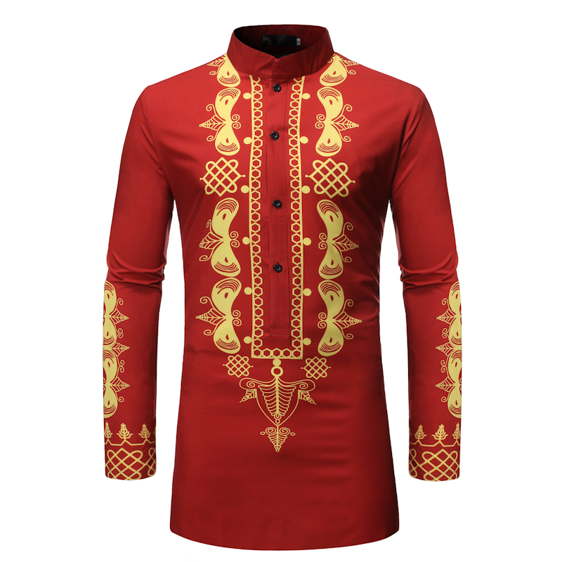 Casual Men National Wind Shirt Cotton Long Sleeve Stand Collar Vintage Solid Stitched Long Tops Indian Suit Pakistani Shirt 3XL