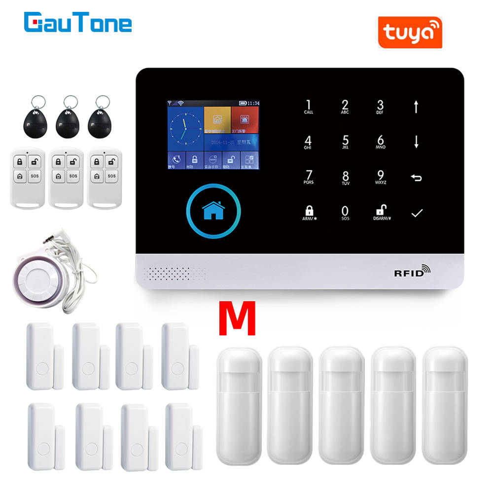 GauTone PG103 Alarm System for Home Burglar Security 433MHz WiFi GSM Alarm Wireless Tuya