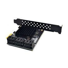 6 Ports SATA 3.0 to PCIe Expansion Card PCI Express SATA Adapter SATA3 Converter raid5 sata pci card black silver 8 0t max