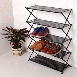 Żelazny składany stojak na buty kreatywny dom cztery pięć sześć warstw przechowywanie wielowarstwowy prosty prosty nowoczesny salon półka na drzwi