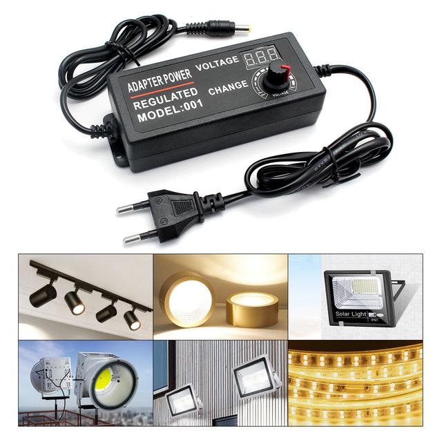 3V 5V 9V 12V 24 V regulowana moc zasilacz wyświetlacz ekran uniwersalny AC 12V ładowarka 220V do 3 9 12 24 V Volt tanie i dobre opinie ZUCZUG Power Supply Adapter 5 5mm * 2 5mm Przełączania Podłącz 3-12V 3-24V 9-24V Adjustable adapter DC 3V-12V 3V-24V 9V-24V