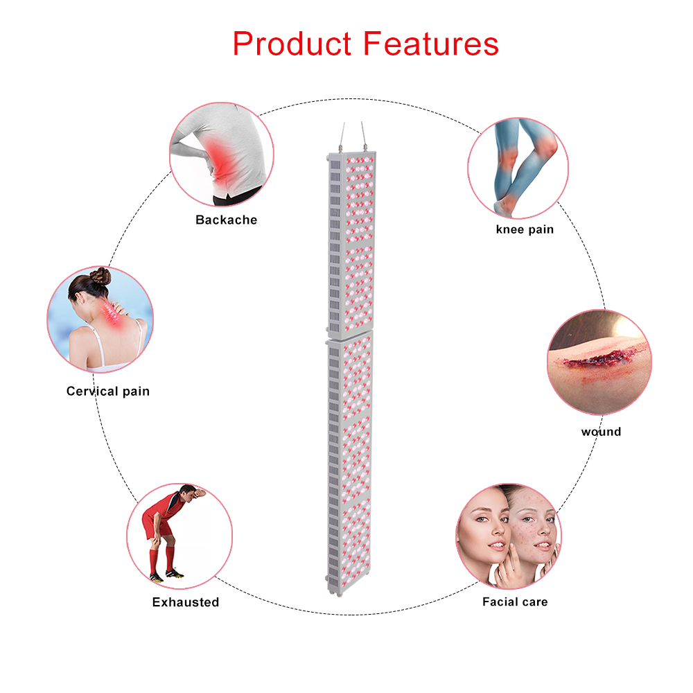 Full Body 300W Led Therapy Light Panel 660nm 850nm TL200 +TL300 For Health Beauty Care  For Anti-Aging Pain Relief