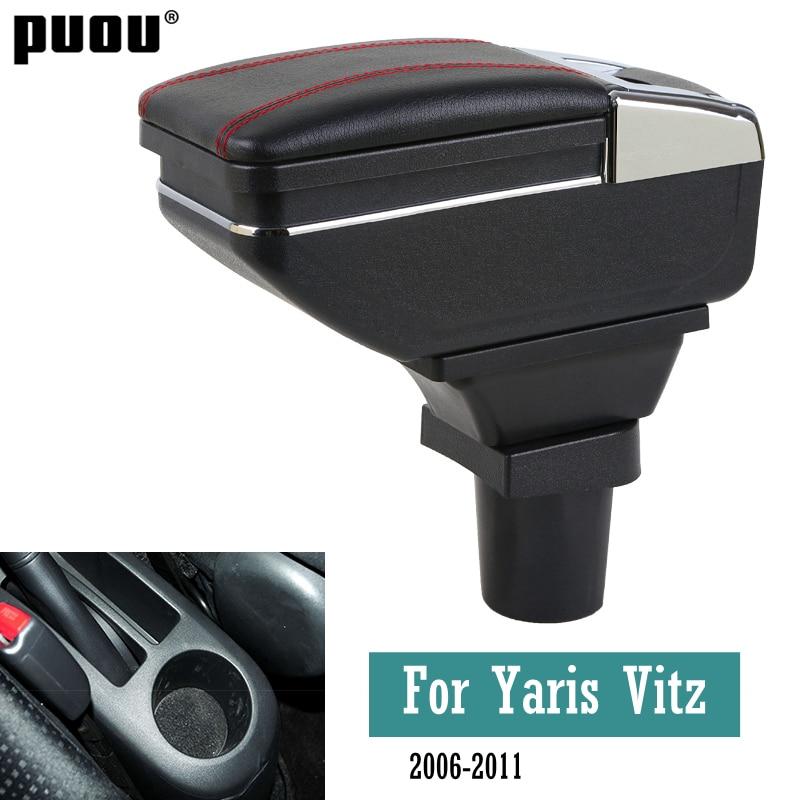 Автомобильный подлокотник для Toyota Yaris Vitz 2006-2011, поворотный подлокотник