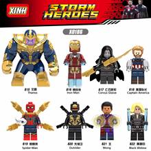 Wang Xin X0186 Avengers 3 Thanos Spider-Man Black Widow Death Edge General Assembly Doll Toy Educational Toy(China)