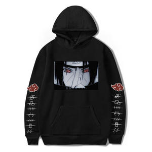 Akatsuki Hoodies Pullover Naruto Sweatshirt Men Streetwear Winter Fashion Autumn Men's