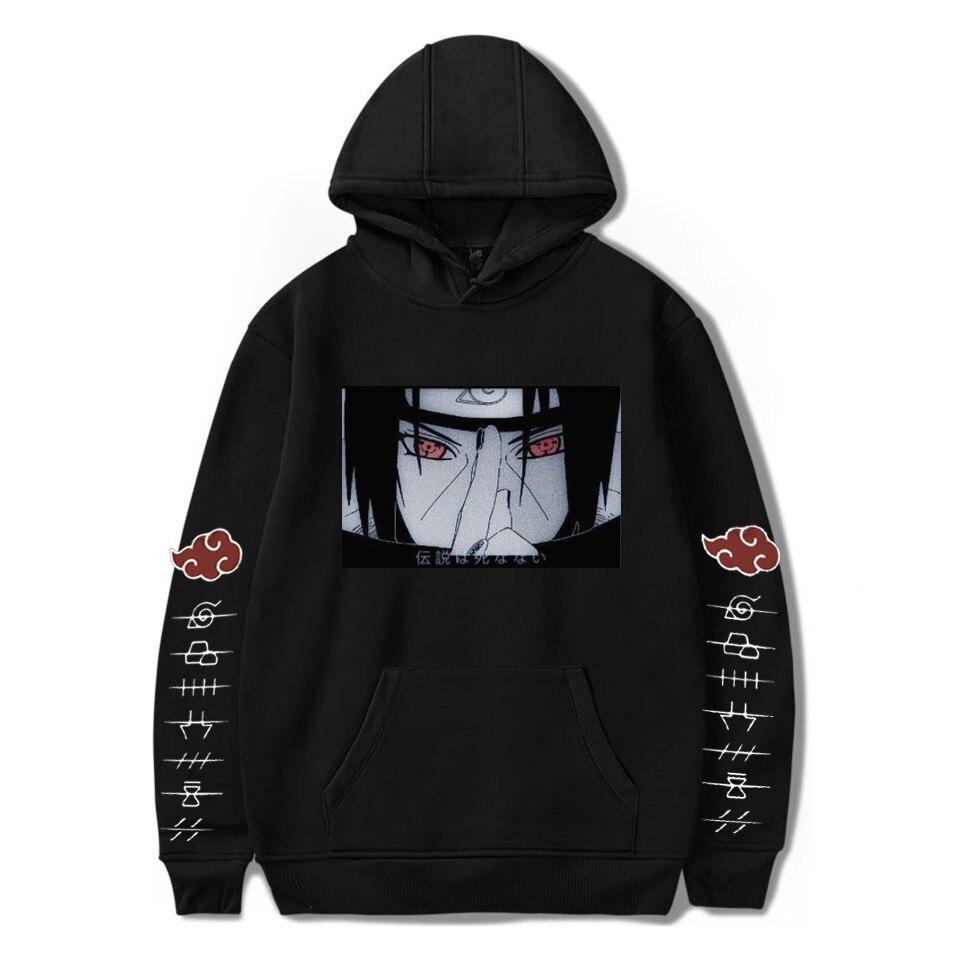 2020 Naruto Akatsuki Hoodies Streetwear Itachi Pullover Sweatshirt Men Fashion Autumn Winter Hip Hop Hoodie Pullover Men's Hoody
