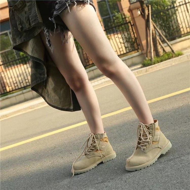 Martin bottes femme 2019 automne et hiver nouveau vent britannique haut pour aider les bottes courtes désert bottes bottes militaires