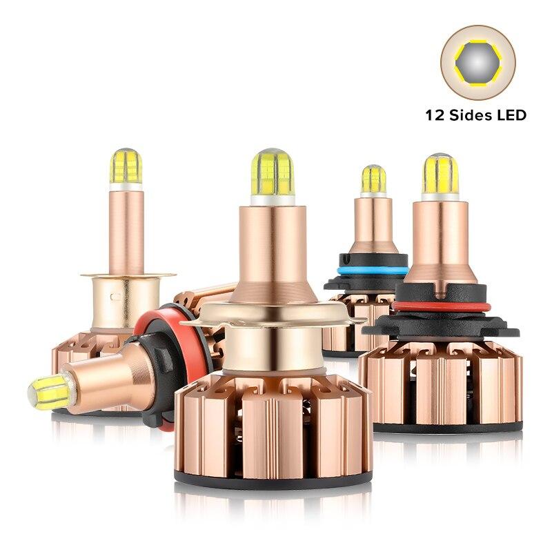 12 Side Mini CSP H11 H7 LED Headlight Canbus Bulb 6000K 20000LM Fog Lights HB3 9005 HB4 LED H1 Auto Lamp 360 Degree No Error New