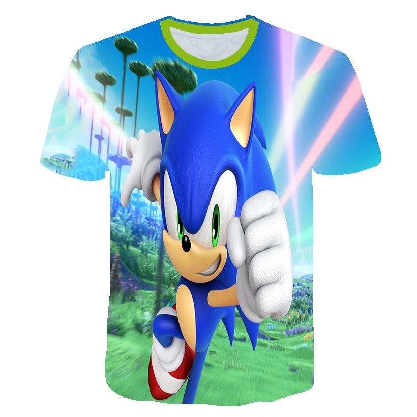 2020 Summer T-shirt Sonic the Hedgehog Casual T shirts Cartoon Baby 3D Boys t shirt Fashion Breathable Kids Clothes shirts