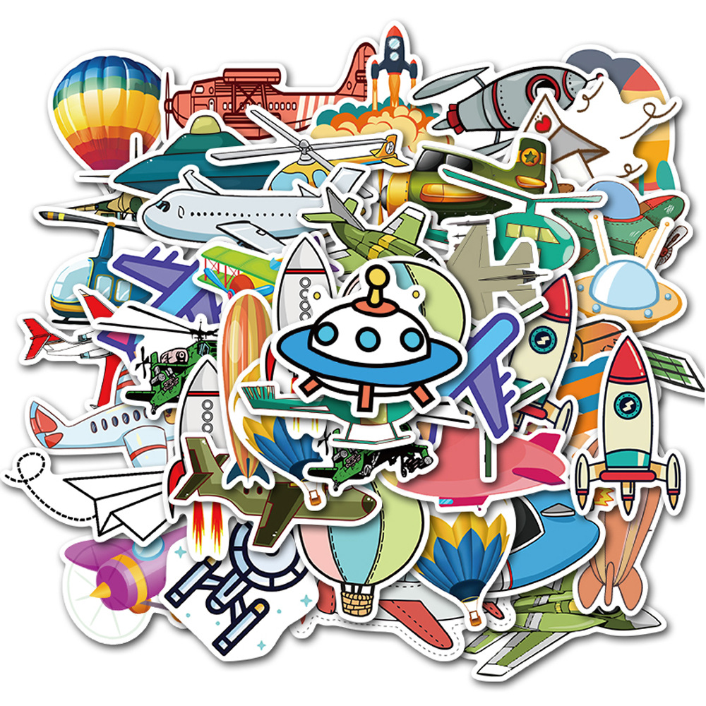 40 PCS Flying Tools Hot Air Balloon Doodle Stickers for Car Modeling Bicycle Motorcycle Mobile Phone Laptop Travel Luggage