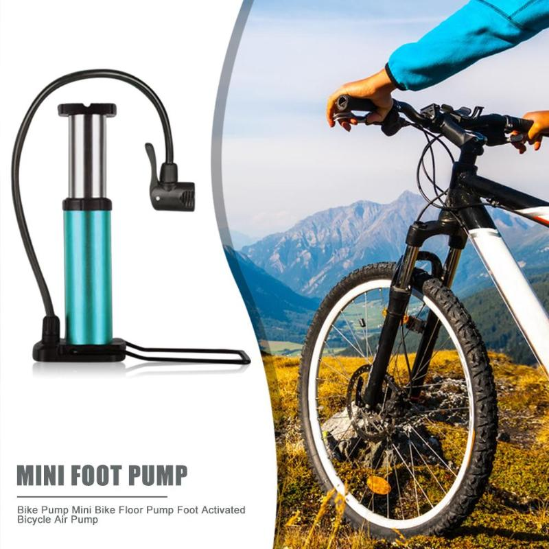 High Pressure Portable Foot Activated Floor Pump Bicycle Ball Pump with Gauge