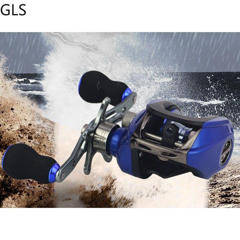 carretel de pesca 8 0kg de carbono arraste 6 3 rolamentos gear ratio 17 1 1