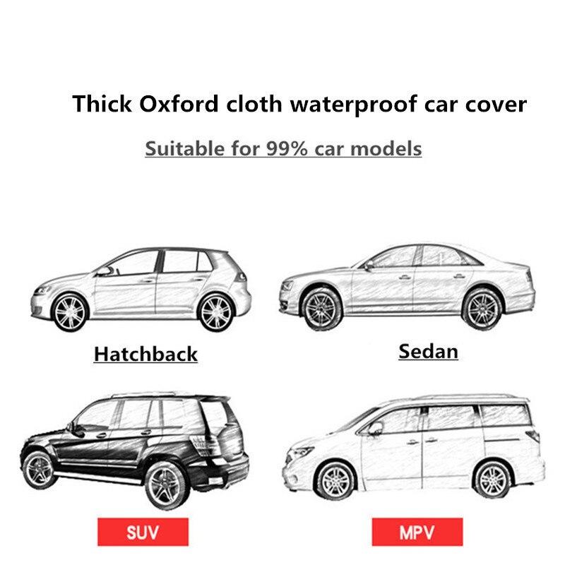 Cubierta de invierno para coche cubierta impermeable espesamiento de la nieve cubierta universal de cristal para coche al aire libre anti lluvia funda para el coche - 6