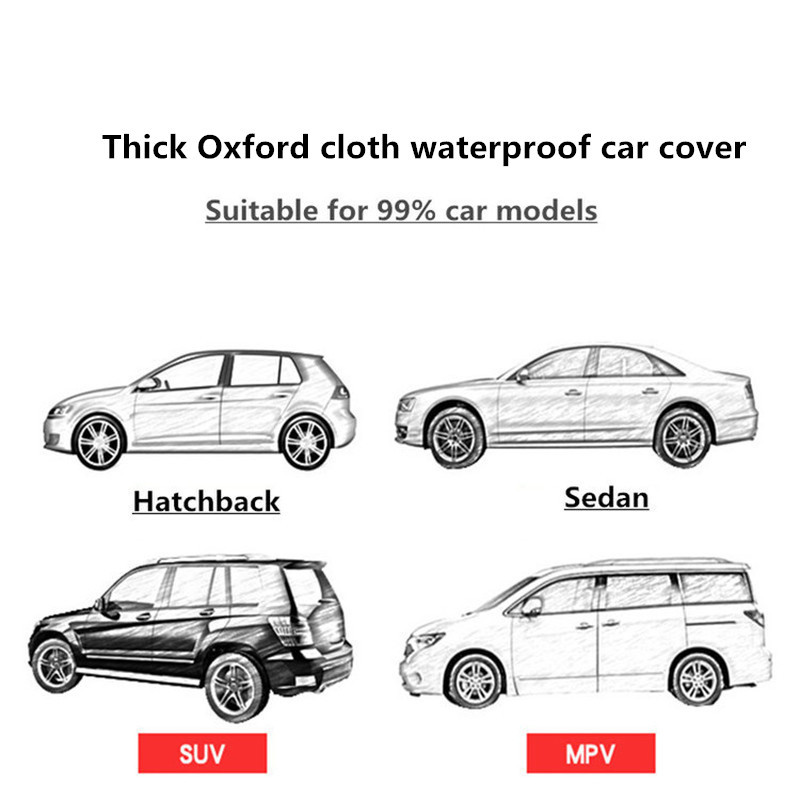 Winter car cover waterproof thickening snow cover universal car glass cover outdoor anti rain sun shade case for car - 6