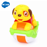 HOLA TOYS 3105A Baby Toys Musical Sliding Animals Dog with Lights & Music Electronic Toys Pets Toys for Children