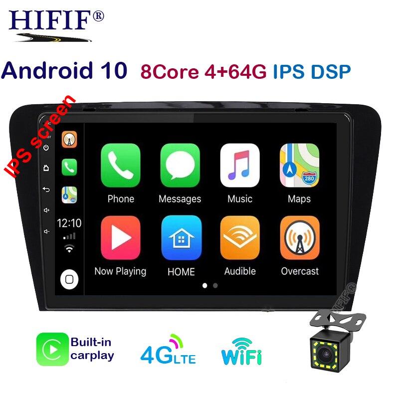 Car DVD Multimedia Player For Skoda Octavia A7 III 3 2014-2018 2din Android 10 Radio Auto Navigation GPS Rear Camera