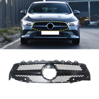 Car Accessories Front Grille Middle Net Bumper Grills Assembly Frame Cover Trim Decoration for Mercedes Benz CLA Class W118 2020