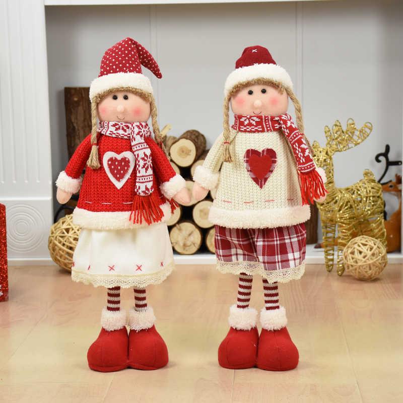 Decorazioni di Natale Babbo Natale Pupazzo di Neve Renne Ornamenti Bambola Del Pendente di Natale Regalo di Nuovo Anno Regalos De Navidad per La Casa