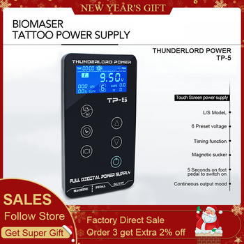 Tattoo Power Supply Tatuagem For Tattoo Machines Touch Screen Source TP-5 Digital LCD Makeup Dual Tattoo Power Supplies