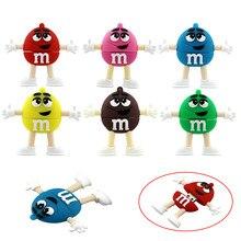 64GB usb flash drive Silicone M & M Rainbow Beans Candy 32GB 128GB 64GB 256 32 4 16 8 gb pendrive Gift Cle USB memory pen drive