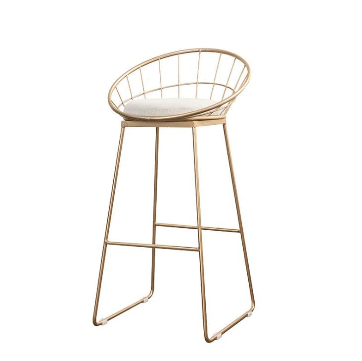 Nordic Bar Stool Wrought Iron Cashier High Stool Modern Minimalist Back Bar Chair Creative Personality Bar Chair