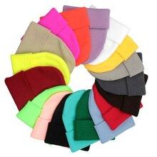Unisex Hat Cotton Warm Soft HIP HOP Knitted Hats Men Winter Caps Women's Skullies Beanies Girl Solid Autumn Winter Warm Knitted
