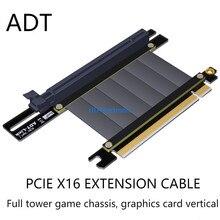 Pcie x16 pci e 16x הארכת כרטיס מסך עבור Antec CoolMaster Corsair Gigabyte MSI PHANTEKS Deepcool שחור TT מארז