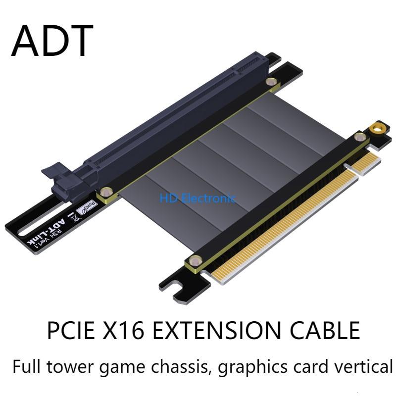 Pcie X16 Pci-e 16x Graphics Card Extension Cable For Antec CoolMaster Corsair Gigabyte MSI PHANTEKS Deepcool Segotep TT Chassis
