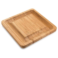 Bamboo Cheese Board Set with in Slide Perfect Charcuterie Board and Serving Tray for Entertaining or Gift Giving|Chopping Blocks| |  -