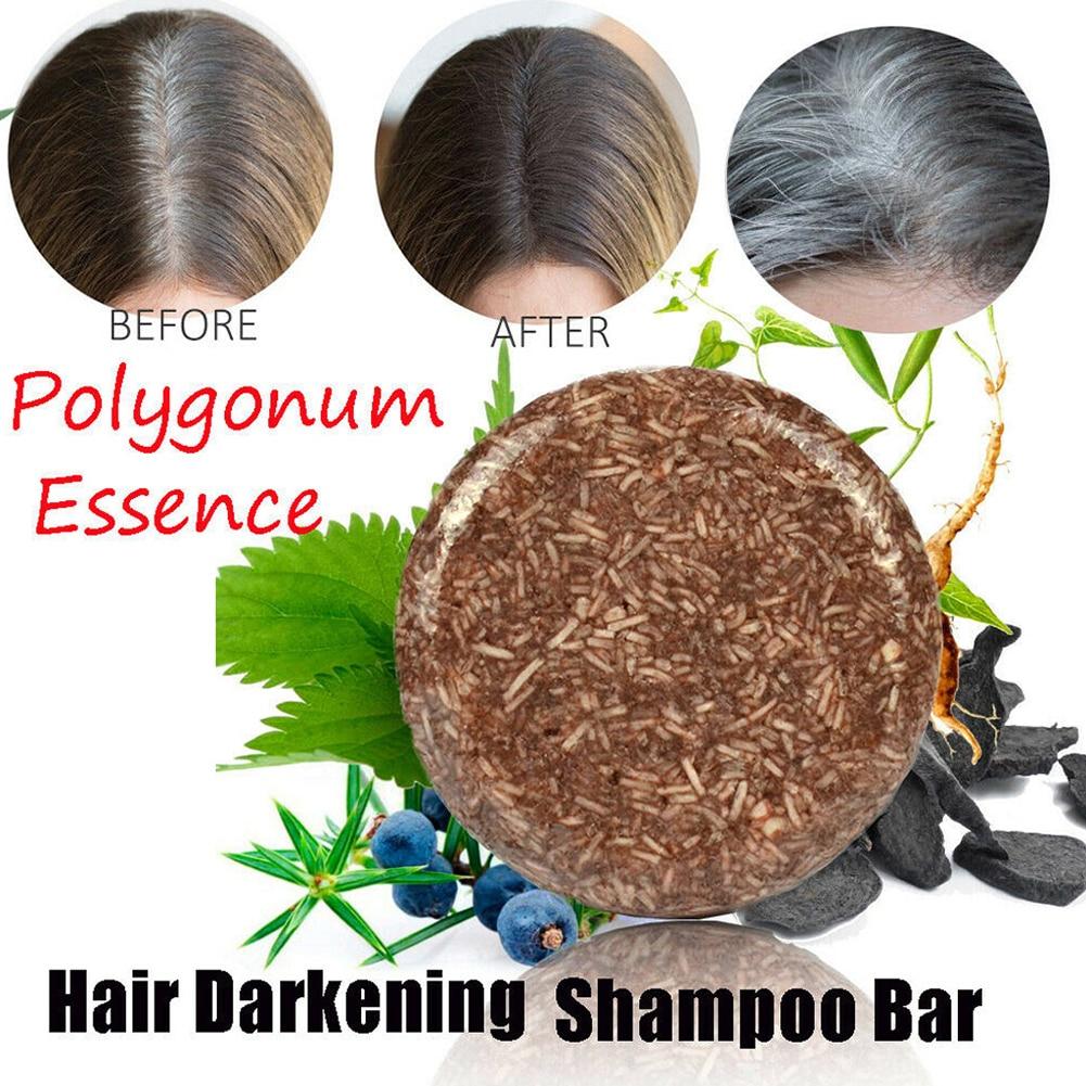 60g Moisturize Repair Hair Darkening Shampoo Bar Glossy Scalp Regrowth Handmade Anti Dandruff Cleansing Unisex Adult Health Care