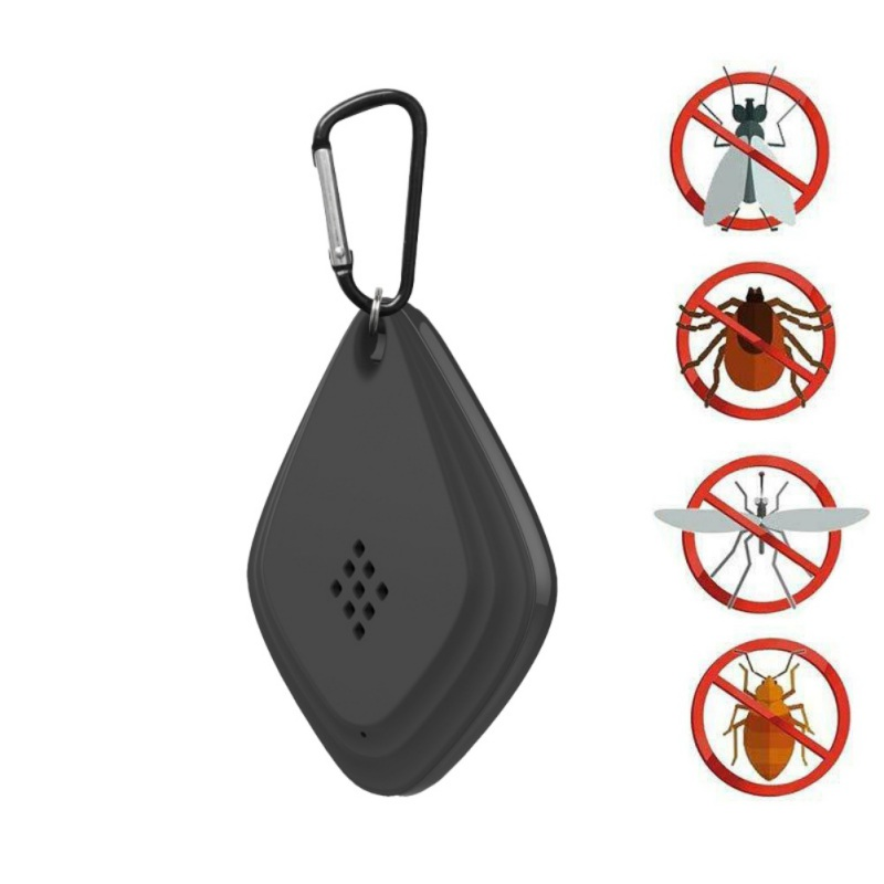 USB Rechargeable Hanging Ultrasonic Mosquito Repeller Portable Non-Toxic Electronic Pest Killer For Travel Or Home Use