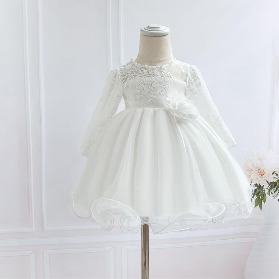 Infant Baby Girls Princess Wedding Dress Pageant Birthday Party Costume Outfits