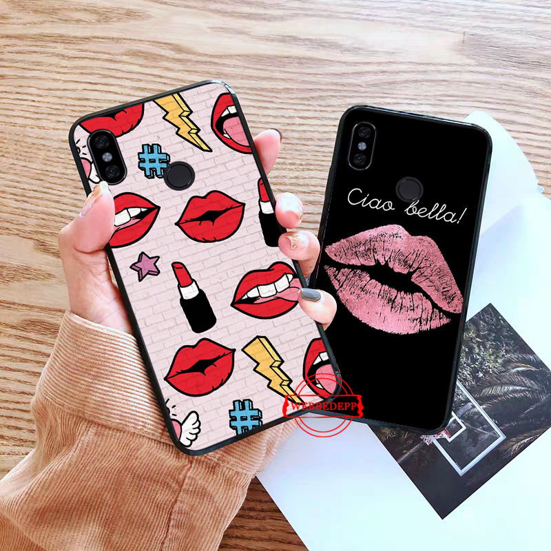 WEBBEDEPP Kiss With Lips Remarkable Silicone Case for Xiaomi Redmi Note 4X 5 6 7 Pro 5A Prime in Fitted Cases from Cellphones Telecommunications