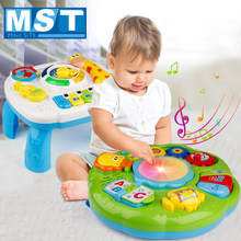 Infants Musical Instrument Learning Table Education Baby Toys Animals Piano Early Study Activity Center Game Machine For Kids(China)