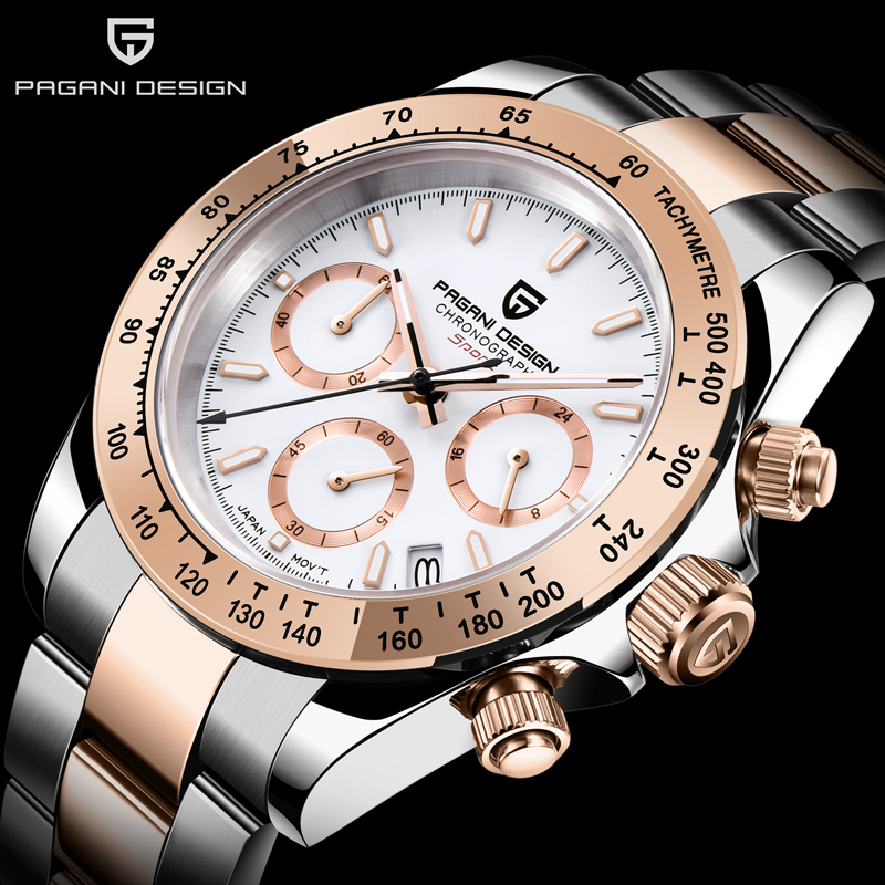 PAGANI DESIGN 2020 New Men's Watches Luxury Mens Quartz Wrist Watch Men Stainless Steel Watch Men Chronograph Relogio Masculino