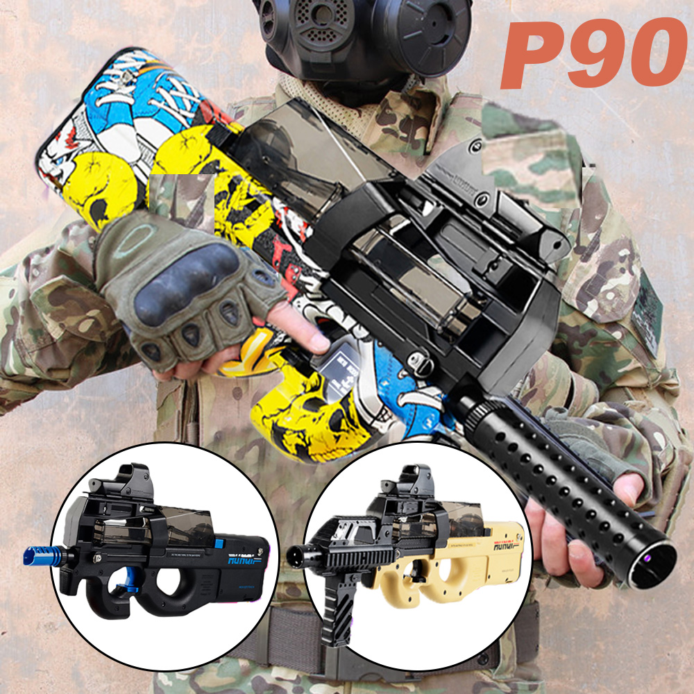 P90 Electric Water Bullet Gun Toy Sniper Rifle Graffiti CS Games Paintball Bursts Gun Boys Toys Outdoor Pistol New Year Gifts